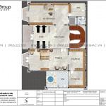 6 Bản vẽ tầng 3 biệt thự lâu đài 5 tầng tại vũng tàu sh btld 0044