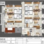6 Bản vẽ tầng 3 khách sạn 2 sao tại quảng ninh sh ks 0076
