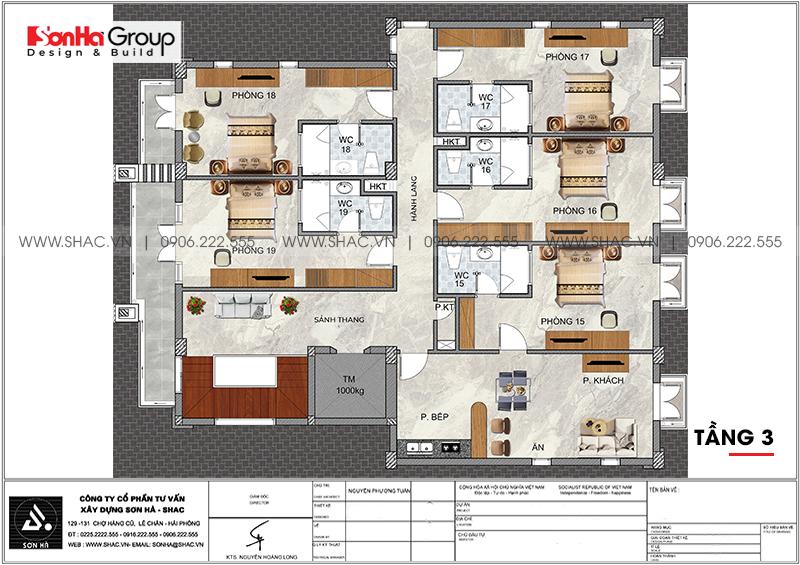 Kinh doanh đại thắng với thiết kế khách sạn hiện đại mini phong thủy tại Quảng Ninh – SH KS 0076 6
