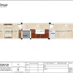 6 Bản vẽ tầng 4 nhà ống hiện đại 5 tầng tại hải dương sh nod 0215