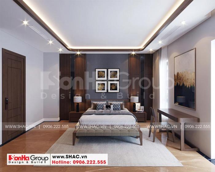 Gam màu tinh tế ấm áp mang đến cảm giác dễ chịu khi bước vào phòng