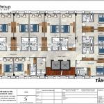 7 Bản vẽ tầng 2 3 4 5 khách sạn tân cổ điển 3 sao tại hà nội sh ks 0078