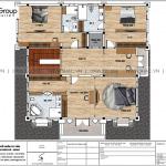 7 Bản vẽ tầng 2 biệt thự lâu đài cổ điển châu âu tại hà nam sh btld 0043