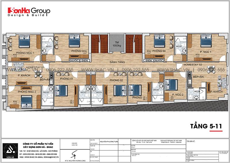 Mẫu thiết kế khách sạn tân cổ điển 3 sao mới nhất tại Phú Quốc (Kiên Giang)- SH KS 0075 7