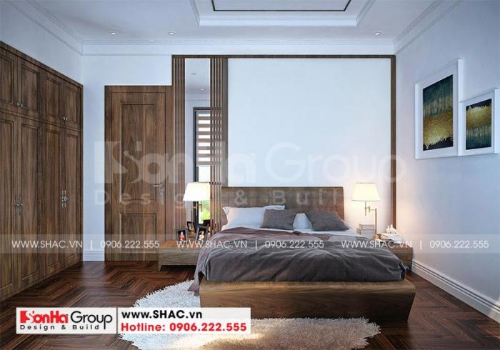 Thêm một phòng ngủ có vệ sinh khép kín bố trí giản dị nhưng ấn tượng
