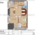 8 Bản vẽ tầng 5 biệt thự lâu đài cổ điển châu âu tại vũng tàu sh btld 0044