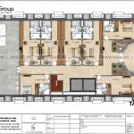 9 Bản vẽ tầng tum khách sạn kiểu tân cổ điển đẹp tại hà nội sh ks 0078