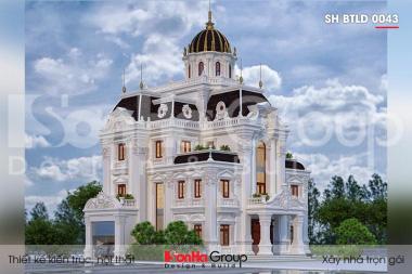 BÌA thiết kế biệt thự lâu đài cổ điển 4 tầng 1 tum tại hà nam sh btld 0043