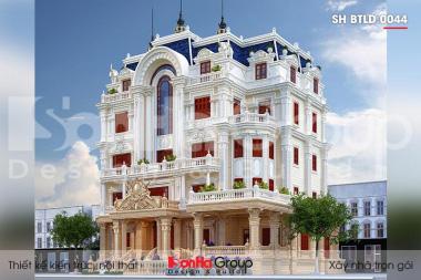 BÌA thiết kế biệt thự lâu đài cổ điển 5 tầng mặt tiền 23,5m tại vũng tàu sh btld 0044