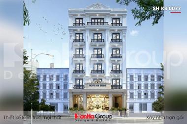 BÌA thiết kế khách sạn 3 sao 6 tầng tại an giang sh ks 0077