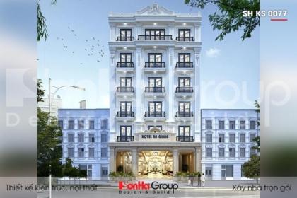 Thiết kế khách sạn 3 sao 6 tầng tại An Giang