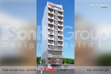 BÌA thiết kế khách sạn 3 sao kiểu hiện đại 12 tầng tại bình định sh ks 0073