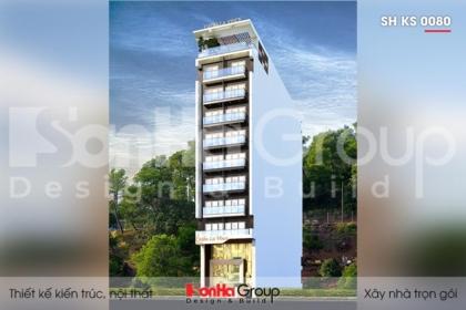 BÌA thiết kế khách sạn hiện đại 3 sao 10 tầng tại hải phòng sh ks 0080
