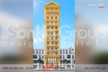 BÌA thiết kế khách sạn tân cổ điển 3 sao 11 tầng tại phú quốc sh ks 0075