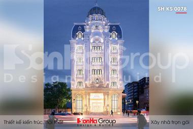 BÌA thiết kế khách sạn tân cổ điển 3 sao 6 tầng tại hà nội sh ks 0078