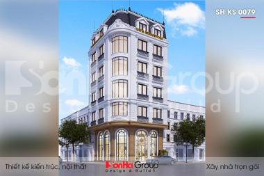 BÌA thiết kế khách sạn tâng cổ điển 2 sao 5 tầng tại quảng ninh sh ks 0079