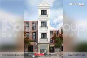 BÌA thiết kế nhà ống tân cổ điển 4 tầng mặt tiền 4m tại hải phòng sh nop 0206