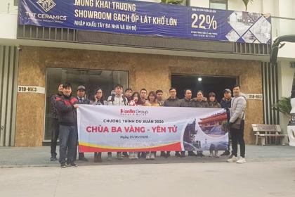 """CBNV Sơn Hà Group 2020 sôi nổi tinh thần """"Du xuân đầu năm   Hứng khởi cả năm"""""""