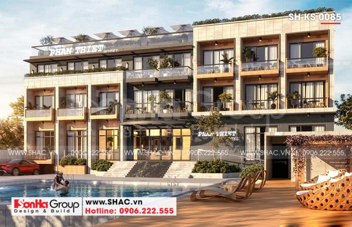 Mẫu khách sạn hiện đại 3 sao tại Bình Thuận toát lên vẻ năng động