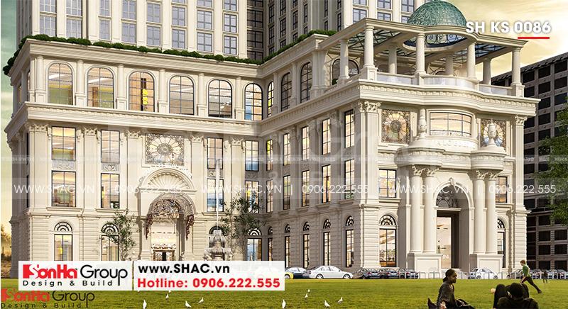 Khách sạn 5 sao phong cách tân cổ điển tại Nghệ An thiết kế đẹp hoàn hảo – SH KS 0086 2