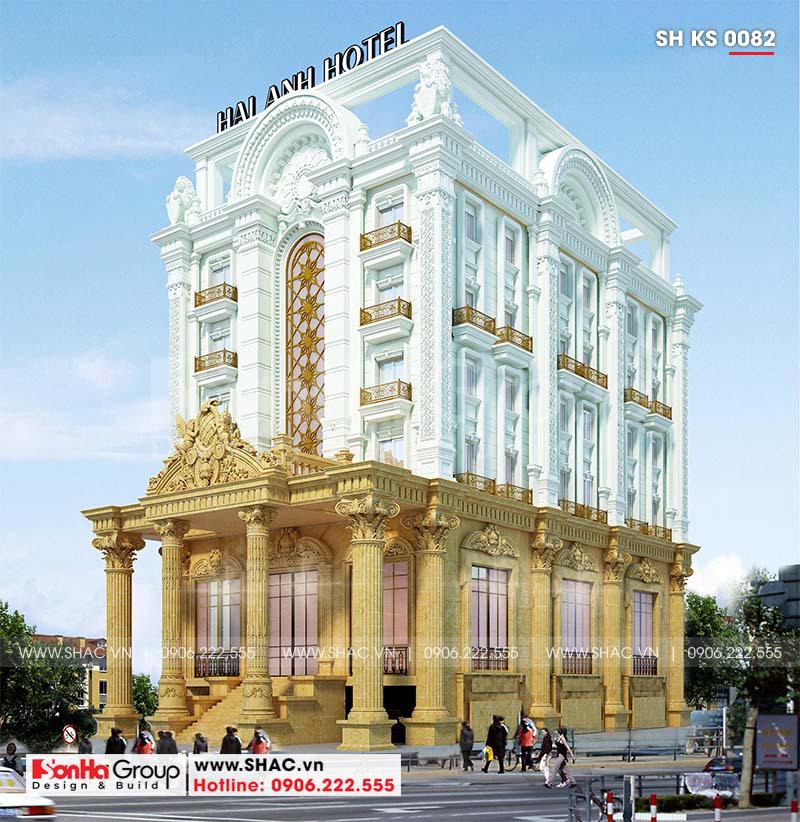 Khách sạn 6 tầng tân cổ điển tiêu chuẩn 3 sao tại Sơn La đẹp hoàn hảo – SH KS 0082 1