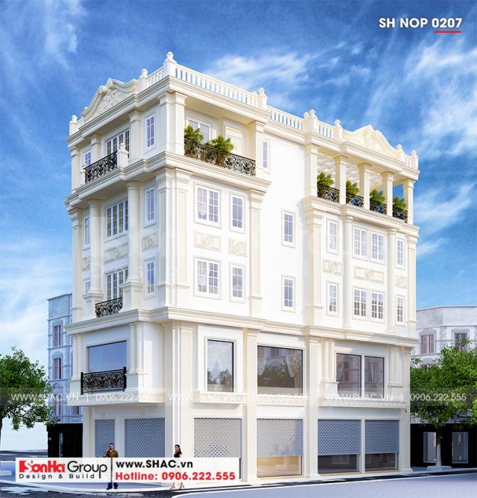 Mẫu thiết kế nhà ống kết hợp kinh doanh của Sơn Hà Group