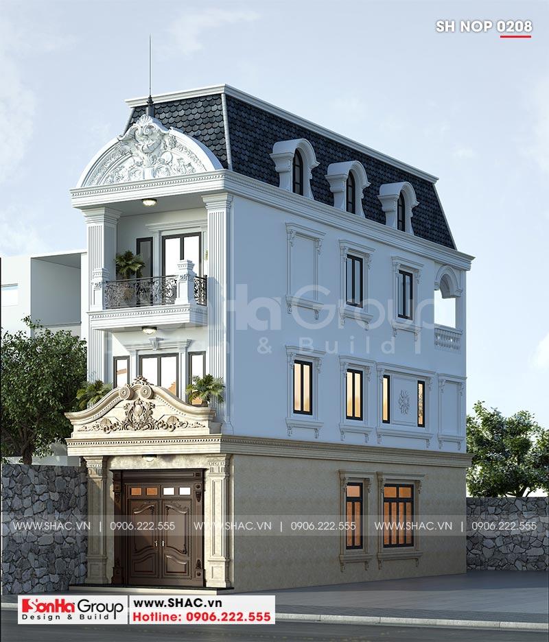 Thiết kế nhà phố tân cổ điển 3 tầng 5x16,5m tại Quảng Ninh