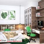 10 Bố trí nội thất phòng ngủ nhà ống hiện đại tại hải phòng sh nod 0220