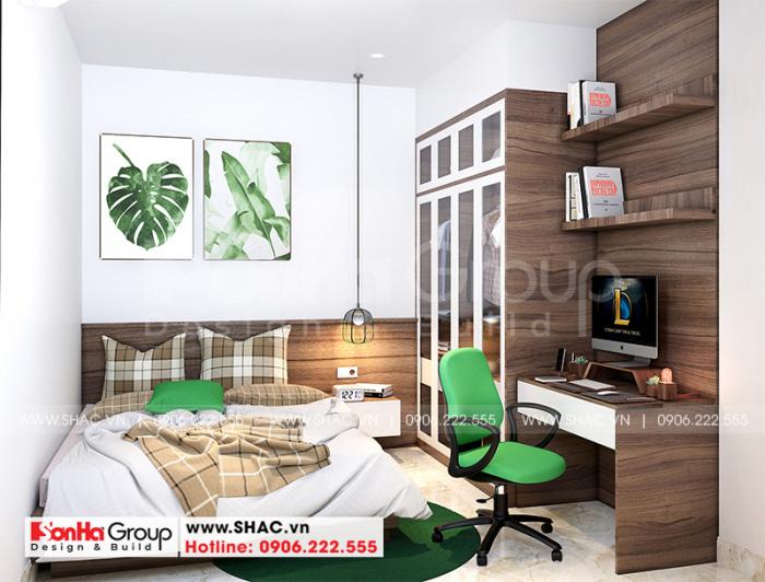 Cách bố trí nội thất phòng ngủ nhỏ xinh với nội thất gỗ sang trọng