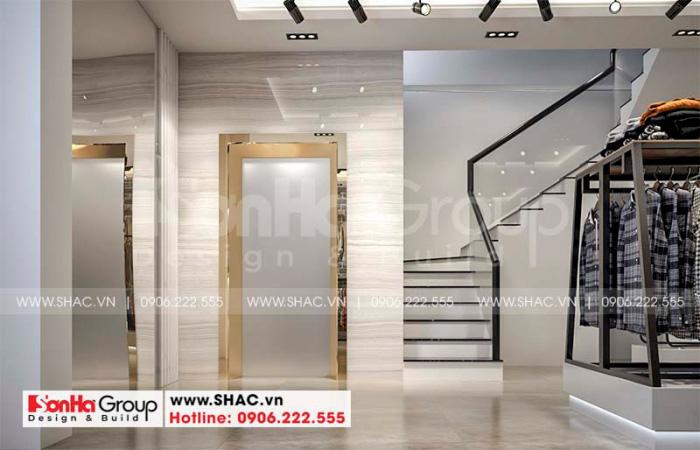 Sảnh thang cũng là chi tiết rất được đầu tư trong thiết kế nội thất này