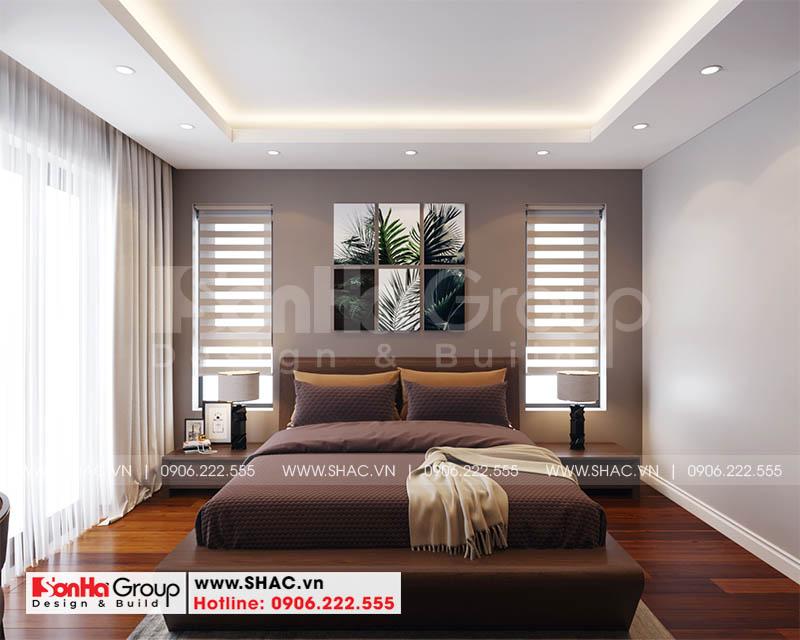 Mẫu thiết kế biệt thự hiện đại 2 tầng mái thái đẹp hoàn hảo tại Hải Phòng – SH BTD 0078 13