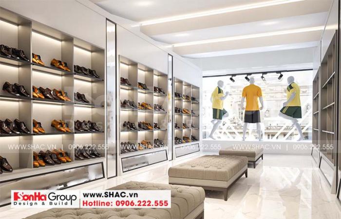 Không gian kinh doanh phong cách hiện đại được bố trí đẹp mắt và thoáng đãng