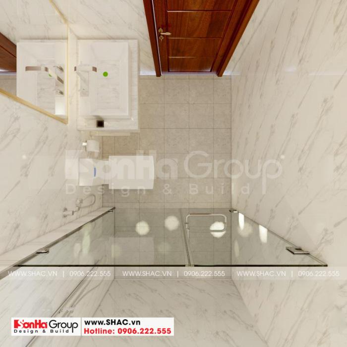 Thiết kế nội thất phòng tắm và vệ sinh với vật liệu ốp lát cao cấp