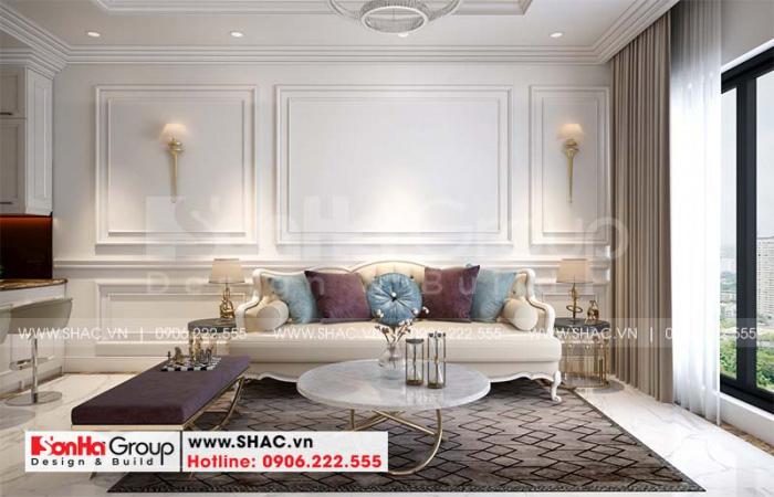 Thiết kế nội thất phòng khách nhà ống 3 tầng sở hữu view đẹp