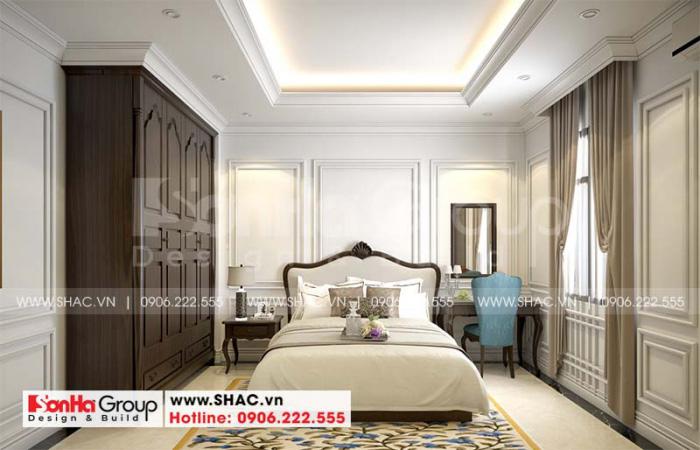 Mẫu phòng ngủ đẹp của nhà phố sử dụng nội thất gỗ là chủ yếu
