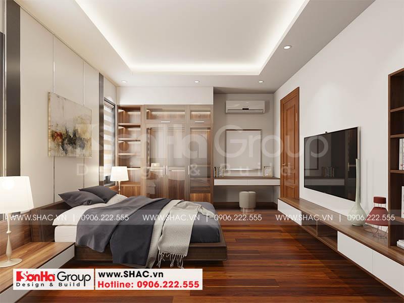 Mẫu thiết kế biệt thự hiện đại 2 tầng mái thái đẹp hoàn hảo tại Hải Phòng – SH BTD 0078 16