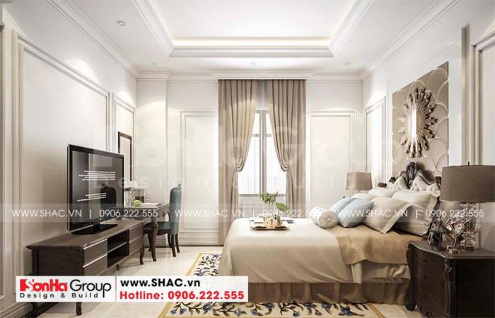 Gam màu nhẹ nhàng và ấm áp được sử dụng trong thiết kế phòng ngủ