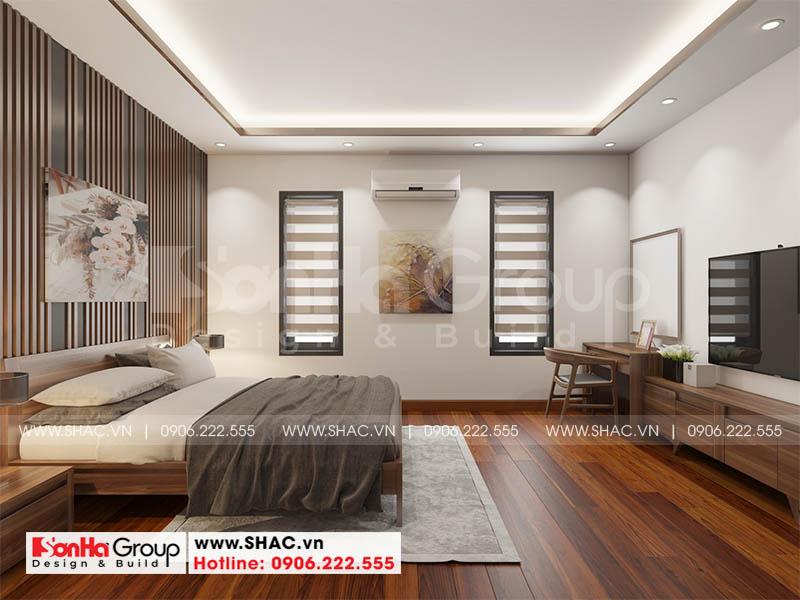 Thiết kế không gian phòng ngủ hiện đại cho biệt thự tại Hải phòng