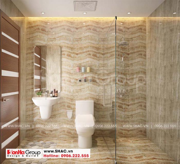 Thiết kế nội thất phòng tắm và vệ sinh sử dụng vật liệu ốp lát mới nhất