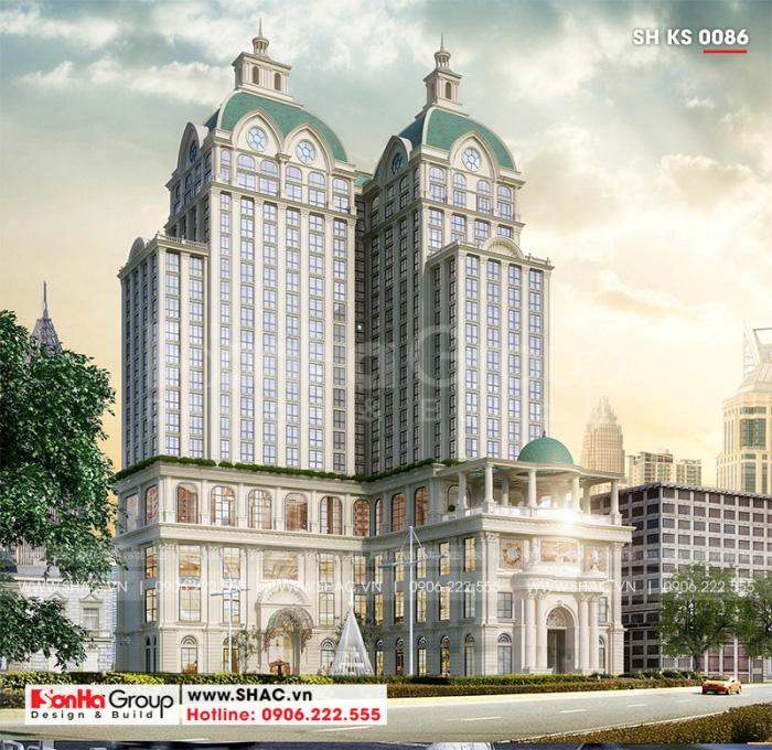 Khách sạn 5 sao phong cách tân cổ điển tại Nghệ An thiết kế đẹp hoàn hảo