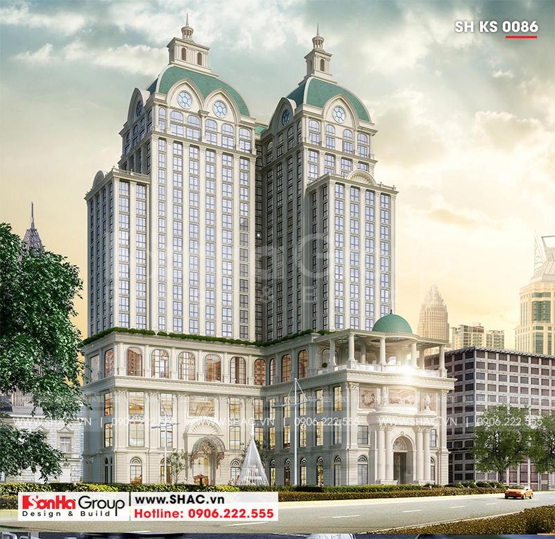 Khách sạn 5 sao phong cách tân cổ điển tại Nghệ An thiết kế đẹp hoàn hảo – SH KS 0086 1