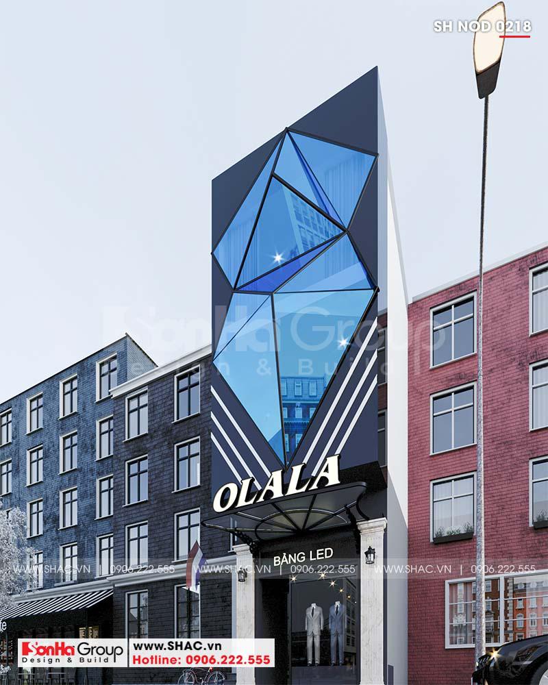 """Mặt tiền """"có 1 không 2"""" của nhà phố 3 tầng hiện đại kết hợp kinh doanh tại Hải Phòng – SH NOD 0218 3"""