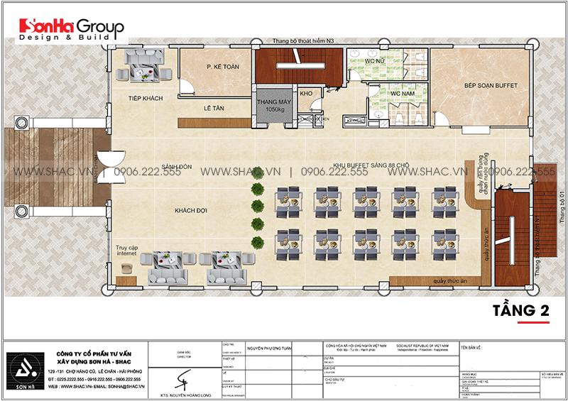 Khách sạn 6 tầng tân cổ điển tiêu chuẩn 3 sao tại Sơn La đẹp hoàn hảo – SH KS 0082 3