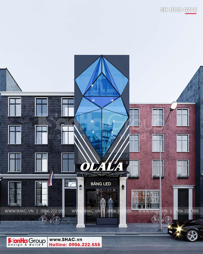 """Mặt tiền """"có 1 không 2"""" của nhà phố 3 tầng hiện đại kết hợp kinh doanh tại Hải Phòng – SH NOD 0218 1"""