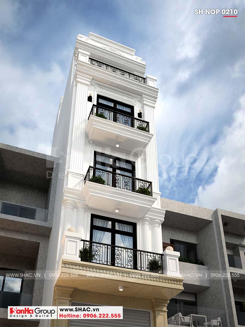 Cận cảnh đường nét tinh tế làm nên kiến trúc mãn nhãn mẫu nhà ống tân cổ điển
