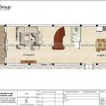 3 Mặt bằng tầng 1 nhà ống hiện đại mặt tiền 5,5m tại hải phòng sh nod 0220