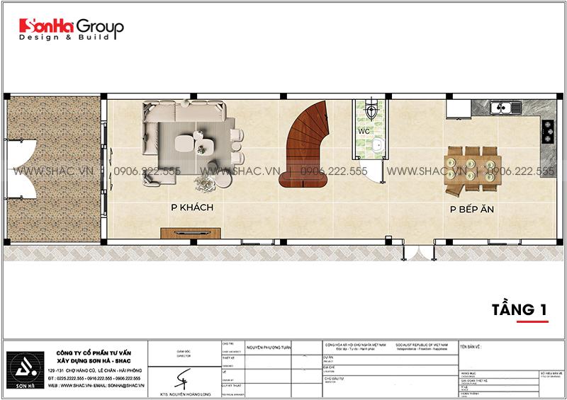 Nhà phố 3 tầng hiện đại tại Hải Phòng sang trọng với nội thất gỗ - SH NOD 0220 3