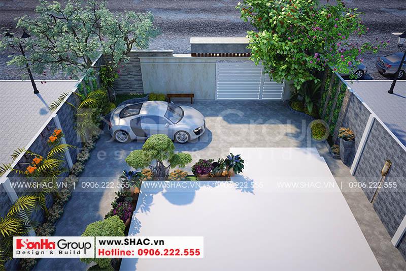 Thiết kế sân vườn biệt thự cũng là thế mạnh của Sơn Hà Group