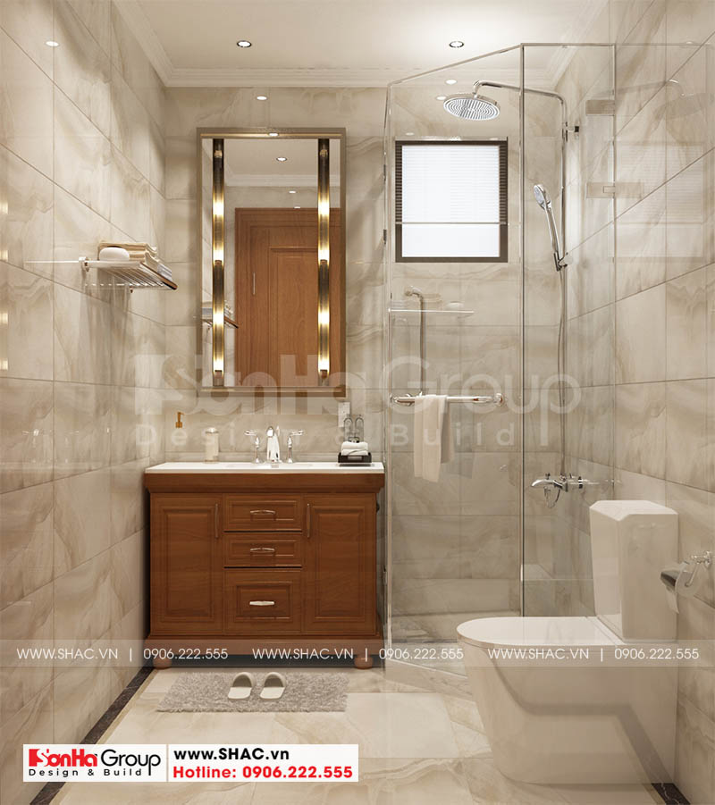 Phương án thiết kế phòng tắm và vệ sinh đẹp mãn nhãn cho biệt thự cao cấp