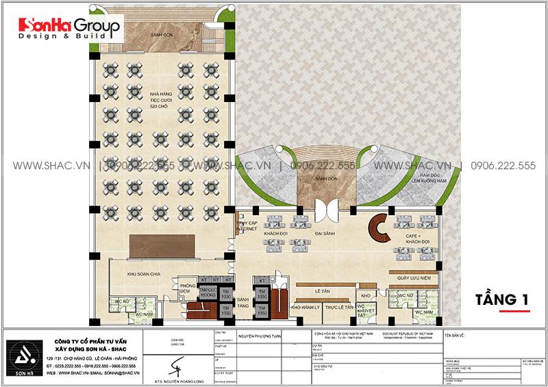 Khách sạn 5 sao phong cách tân cổ điển tại Nghệ An thiết kế đẹp hoàn hảo – SH KS 0086 4